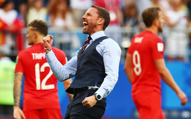 Quite a ride Gareth Southgate salutes the England fans after Saturday's triumphMore
