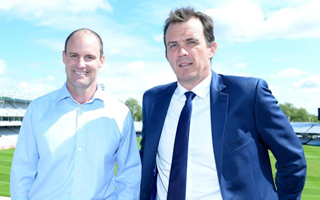<span>Andrew Strauss Unveiled as Director of England Cricket alongside ECB CEO Tom Harrison Cricket</span> <span>Credit: Rex Features </span>