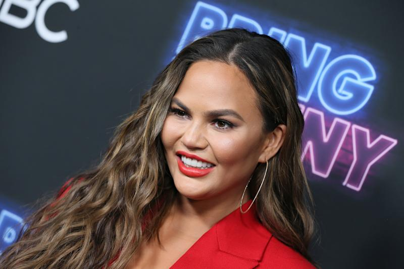 "LOS ANGELES, CALIFORNIA - JUNE 26: Chrissy Teigen attends the premiere of NBC's ""Bring The Funny"" at Rockwell Table & Stage on June 26, 2019 in Los Angeles, California. (Photo by David Livingston/Getty Images)"