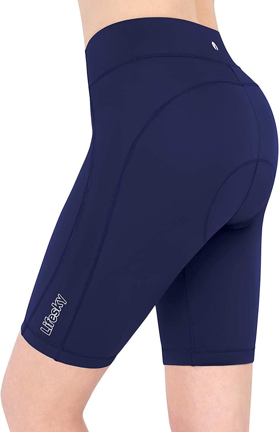 <p>As if shock-absorbing padding wasn't enough, these <span>Life Sky Biker Shorts</span> ($18 - $22) also have hidden pockets! You'll be surprised at how much of a difference this makes when you no longer have to deal with the distraction of your keys rattling around in the cupholder as you pedal, because they'll be safe in your pocket instead.</p>
