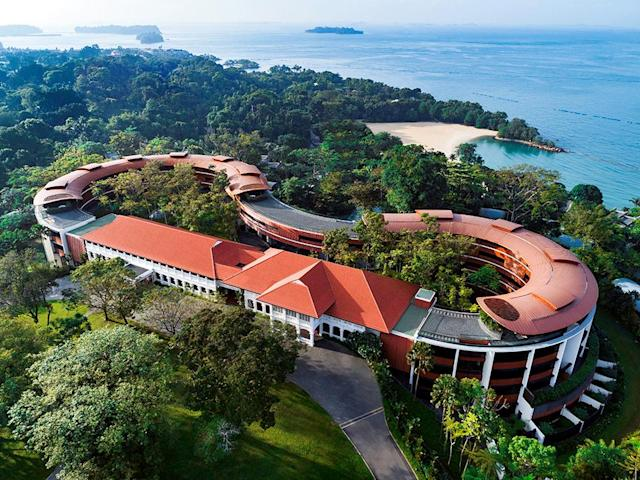 <p>A view shows the Capella Hotel, the venue for the June 12 summit between President Donald Trump and North Korean leader Kim Jong Un, on Singapore's resort island of Sentosa, in this undated handout obtained by Reuters on June 7, 2018. (Photo: Capella Singaporet via Reuters) </p>