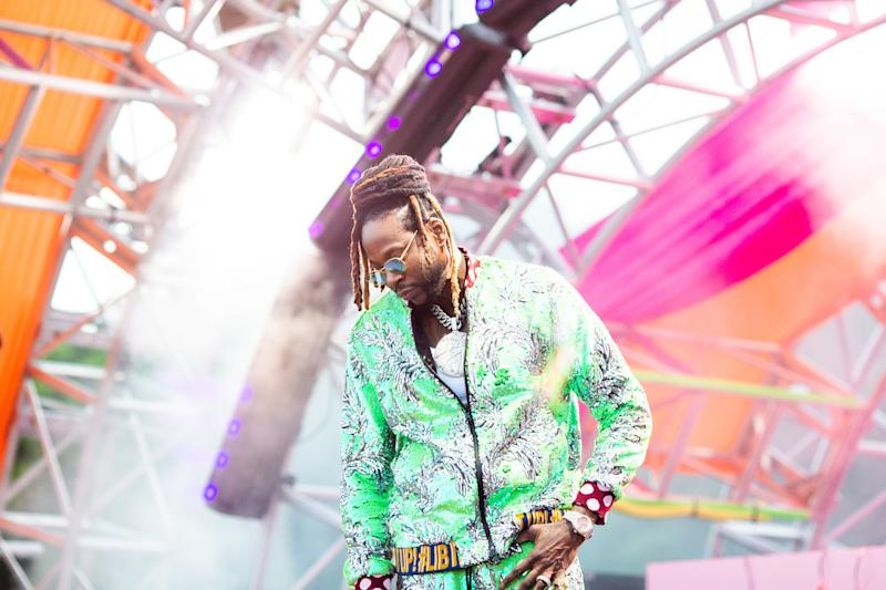 2 Chainz performs at the Revolve Festival in La Quinta, California, during weekend one of Coachella on Saturday, April 13, 2019. Photograph by Alex Welsh for W magazine.