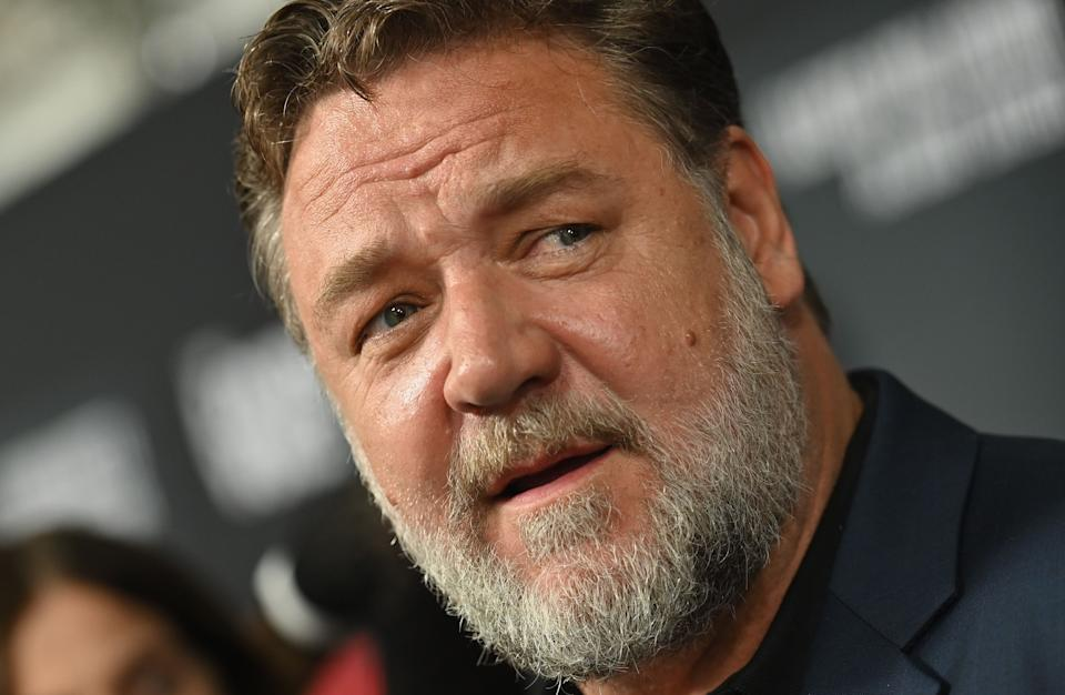 New Zealand actor Russell Crowe attends the Showtime limited series premiere of