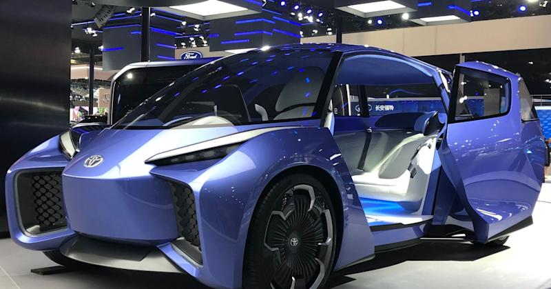Toyota shows off electric vehicle concept car that only has one front seat