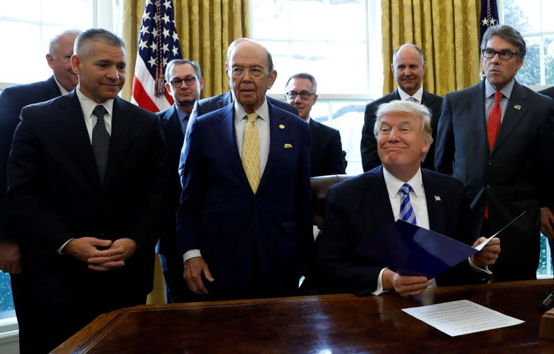 FILE PHOTO: Trump makes Keystone XL pipeline announcemet in Washington