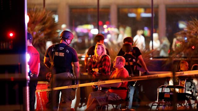 After the deadliest mass shooting in modern U.S. history left at least 59 people dead, plus the gunman, and at least 520 injured at a music festival in Las Vegas late Sunday night, lawmakers responded by offering thoughts and prayers to the victims and their families.