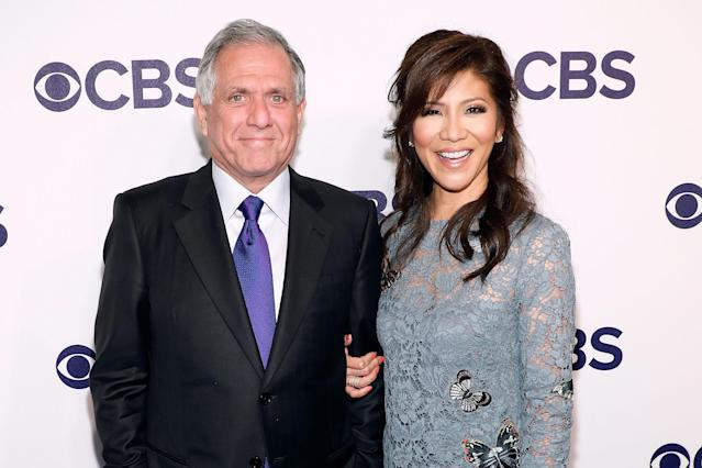 Les Moonves has the full support of his wife, Julie Chen. (Photo: Getty Images)