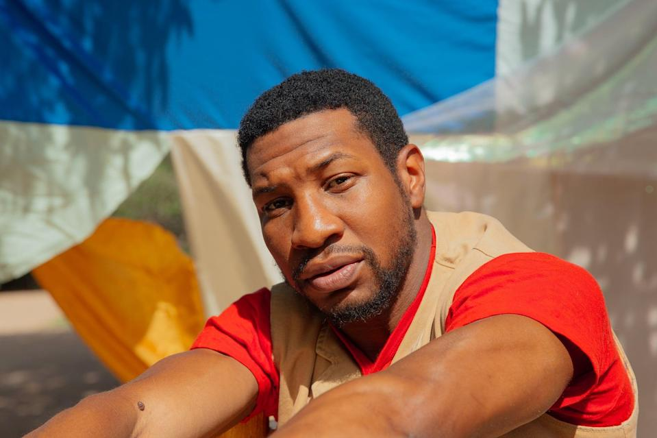 SANTA FE, NM - August 2nd: Jonathan Majors poses for a portrait at his home in Santa Fe, New Mexico on August 2, 2020. Majors is starring in a new HBO series, Lovecraft Country airing August 16, 2020. (Photo by Mary Mathis for The Washington Post via Getty Images)
