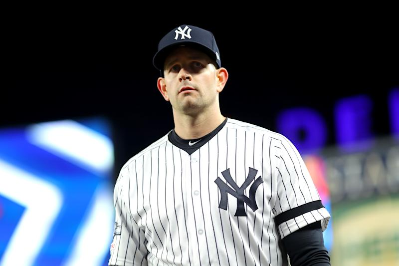 Yankees pitcher James Paxton underwent surgery Wednesday to remove a cyst from near his spine. (Photo by Alex Trautwig/MLB Photos via Getty Images)