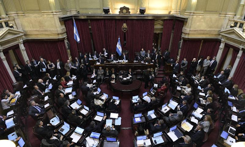 The Senate of Argentina in Buenos Aires on September 3, 2014 (AFP Photo/Daniel Garcia)