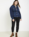"When you can't bear to touch another sweatshirt with a ten ft. pole, opt for this formfitting denim jacket with puff sleeves and gold buttons to boot. $130, Eloquii. <a href=""https://www.eloquii.com/peplum-puff-sleeve-denim-jacket/1278682.html?dwvar_1278682_colorCode=19"" rel=""nofollow noopener"" target=""_blank"" data-ylk=""slk:Get it now!"" class=""link rapid-noclick-resp"">Get it now!</a>"