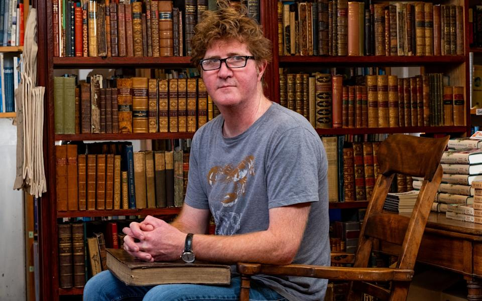 Shaun Bythell at his bookshop in Wigtown - Stuart Nicol