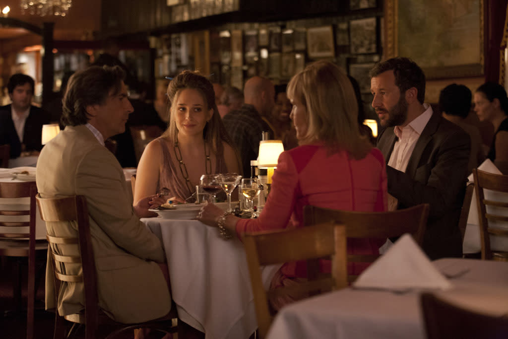 "Griffin Dunne, Jemima Kirke, Deborah Rush and Chris O'Dowd in the ""Girls"" Season 2 episode, ""It's a Shame About Ray."""