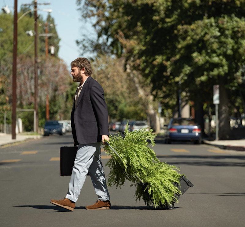 Zach Galifianakis is taking his ferns on the road in his new Netflix movie.