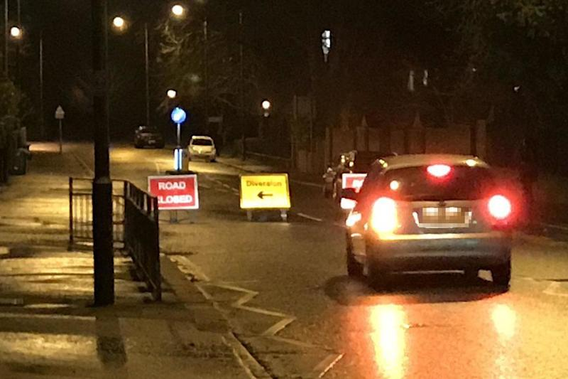 Fire death: Queen's Road in Richmond was closed by police: @Jim_Buckle/Twitter