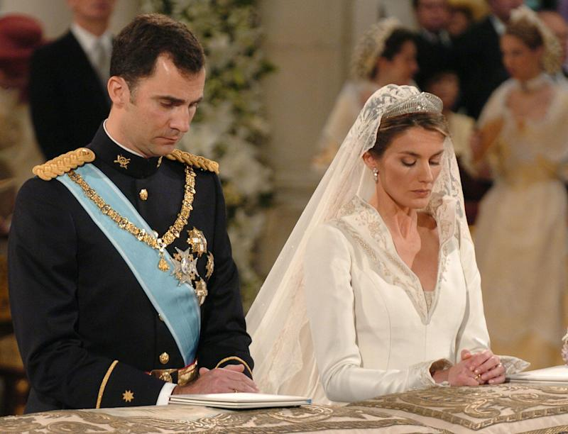 Kate Middleton's wedding dress was similar to Queen Letizia's classic gown (Getty Images)