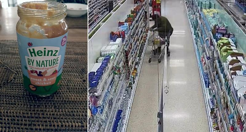 Scene where Nigel Wright planted the laced baby food in Tesco. (SWNS)