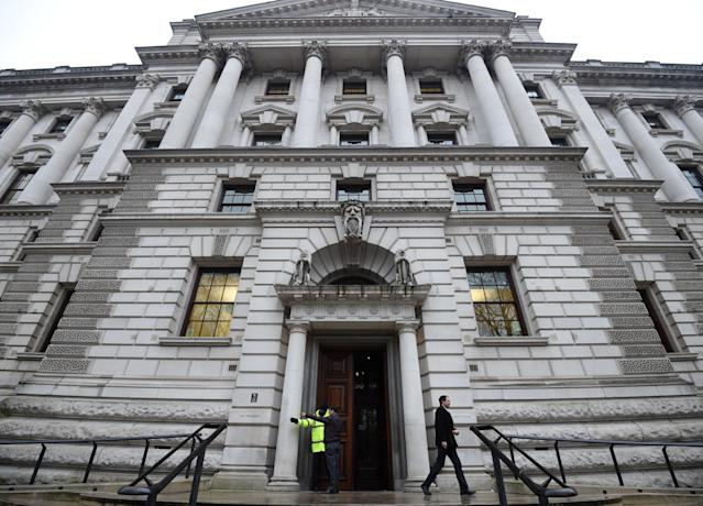 The HM Treasury building in London. Photo: Kirsty O'Connor/PA Images via Getty Images