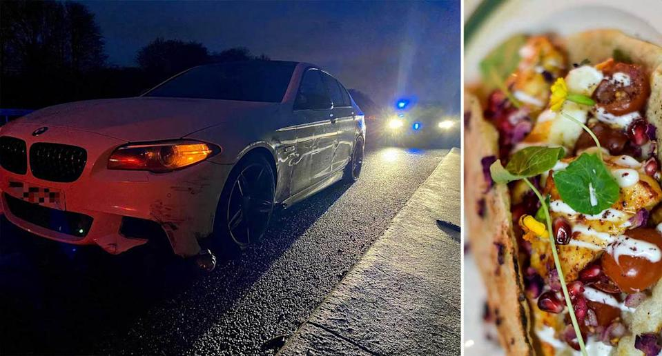 The driver was travelling to pick up a kebab. (SWNS/Avon and Somerset Police)