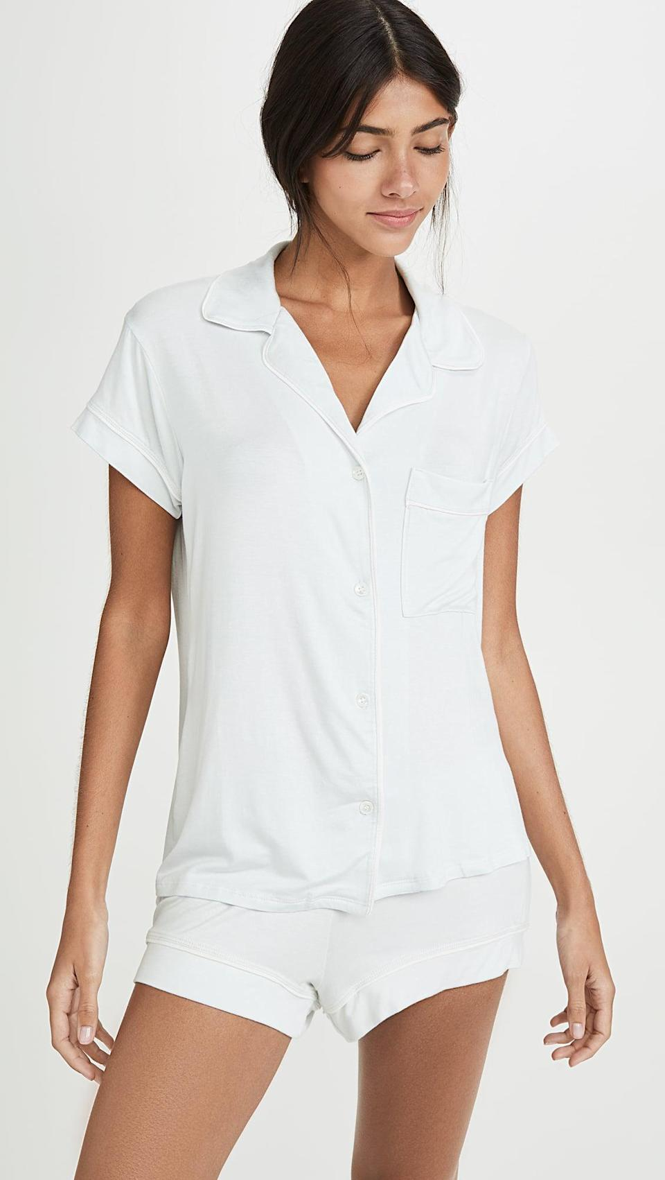 <p>A soft, lightweight short pajama set is a must have in the summer. We like this <span>Eberjey Gwendolyn Short PJ Set</span> ($98).</p>