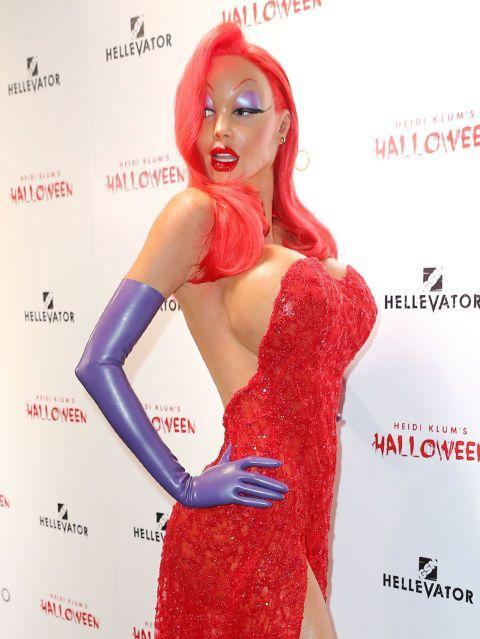 <p>As Jessica Rabbit.</p>