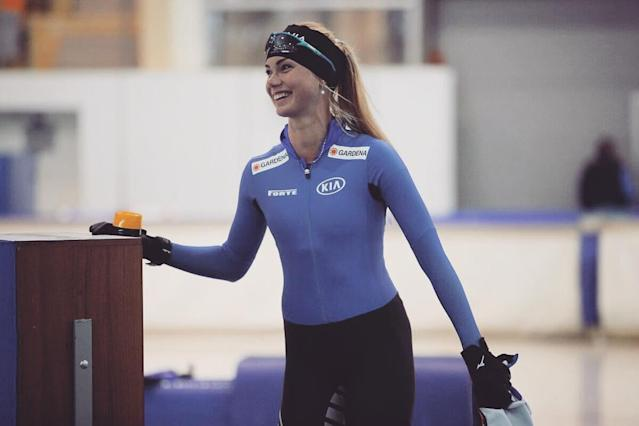 <p>Alusalu is the first ever Estonian speed skater to compete at an Olympic Games. (Photo via Instagram/saskiaalusalu) </p>