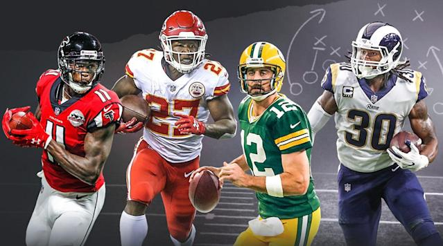 Twelve teams go 12 rounds in a standard-scoring league. Who (and when) was the first quarterback taken? Were running backs the overwhelming favorite in the first round? How high was Julio Jones drafted? Let's get to it.
