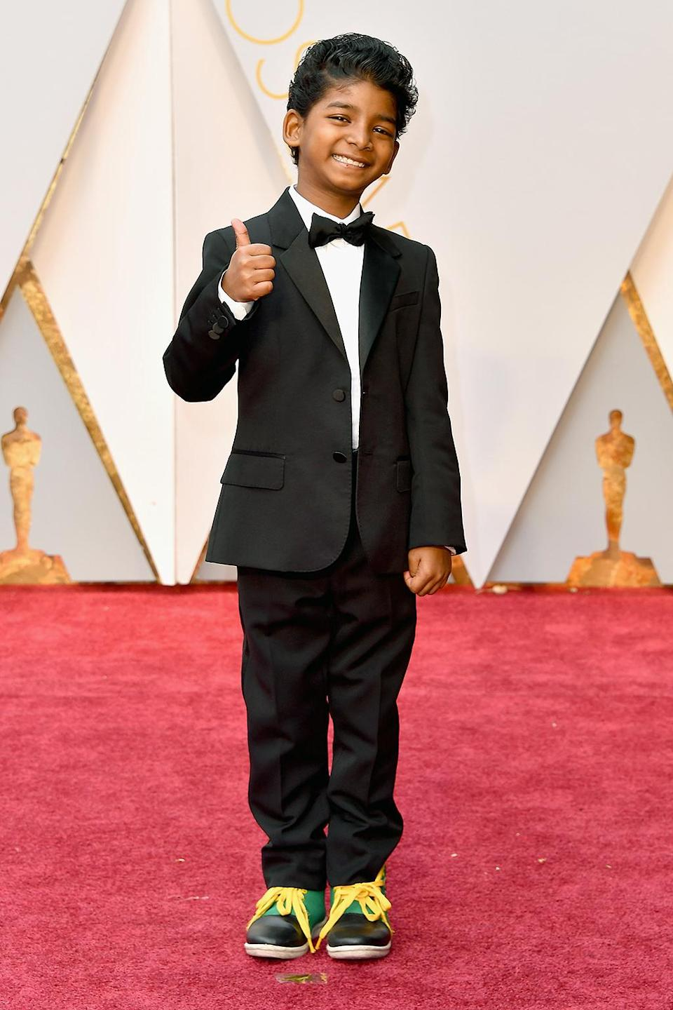 <p>Actor Sunny Pawar attends the 89th Annual Academy Awards at Hollywood & Highland Center on February 26, 2017 in Hollywood, California. (Photo by Steve Granitz/WireImage) </p>