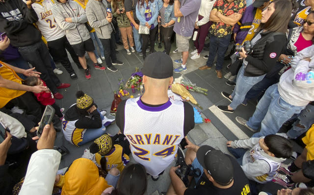 Kobe Bryant's death inspired the best of Los Angeles as the city gathered to mourn a fallen hero. (Keith Birmingham/The Orange County Register via AP)