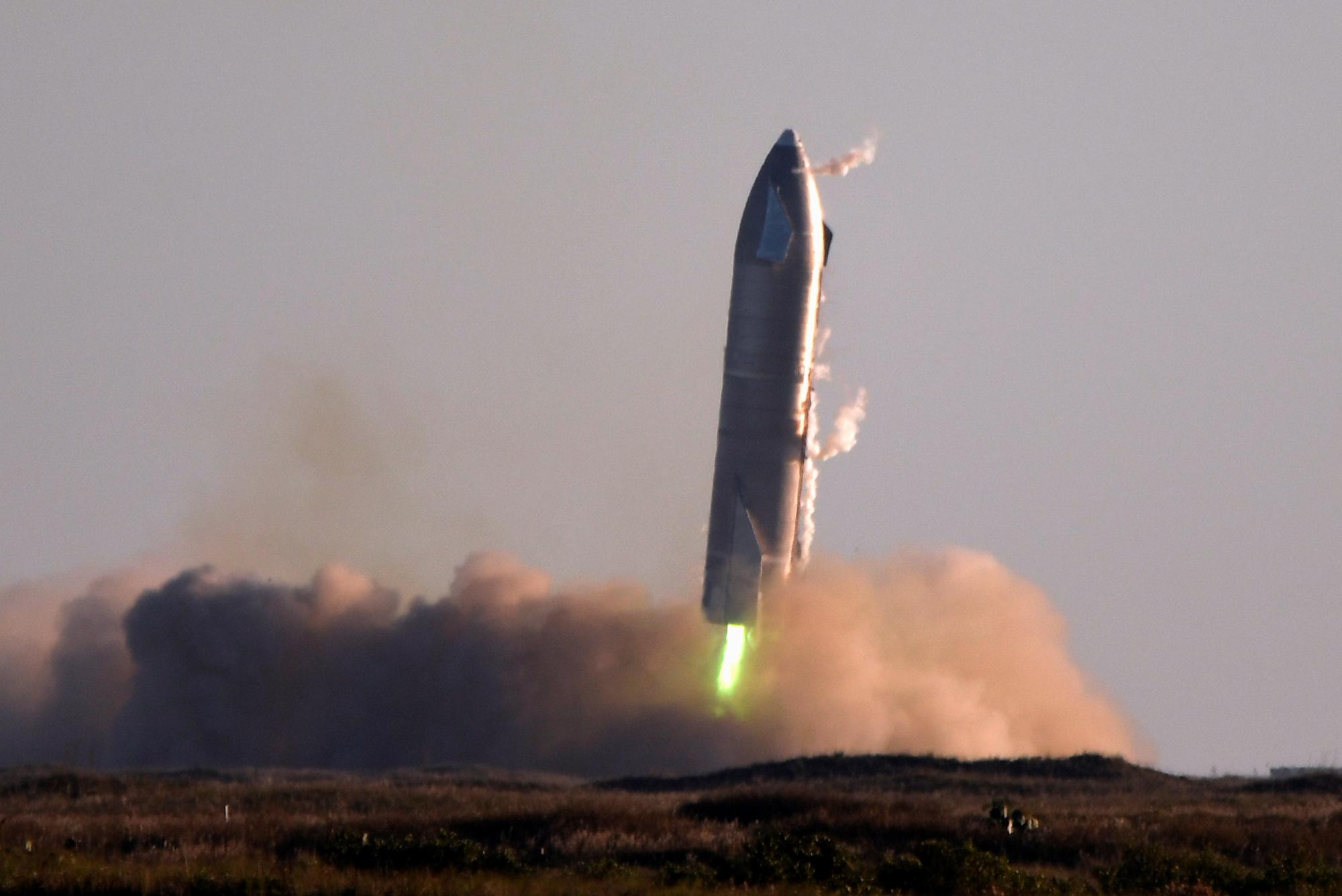 SpaceX once again shows the Starship test flight