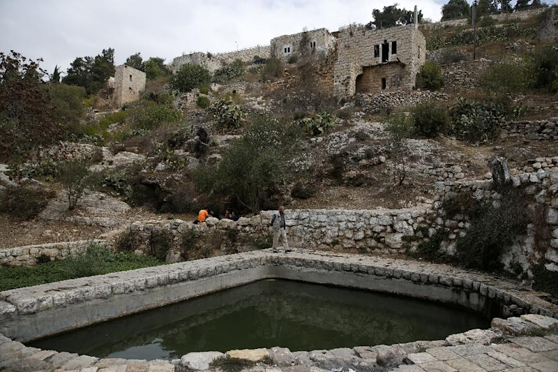 Lifta, a reportedly centuries-old village on the outskirts of Jerusalem, is at the centre of a preservation fight over an Israeli plan to build villas there (AFP Photo/AHMAD GHARABLI)