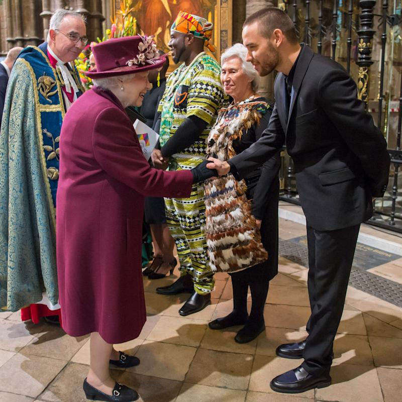 Liam Payne Shook the Queen's Hand at the Commonwealth Day Service