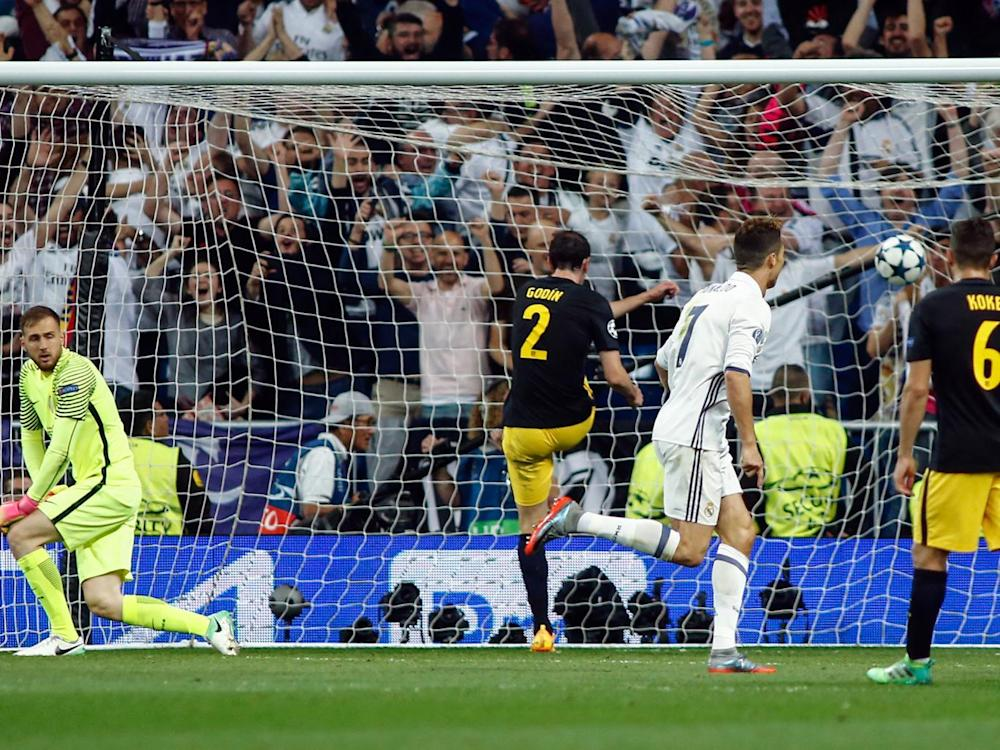 Ronaldo guided Real to victory against Atletico with his 42nd hat-trick (Getty)