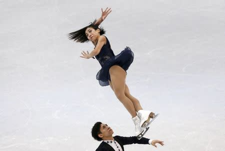 Figure Skating - ISU World Championships 2017 - Pairs Short Program - Helsinki, Finland - 29/3/17 - Sui Wenjing and Han Cong of China compete. REUTERS/Grigory Dukor TPX IMAGES OF THE DAY