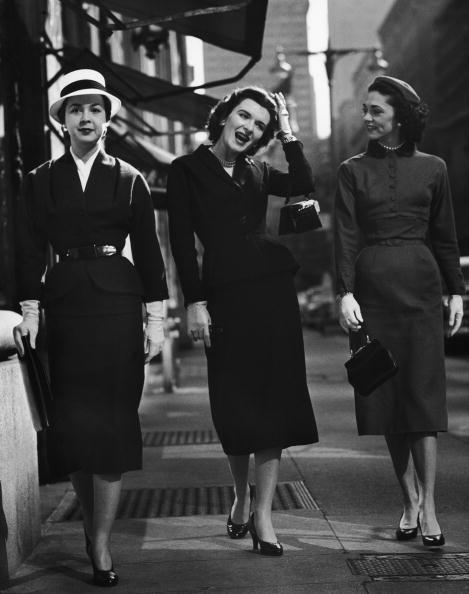 <p>These impeccably dressed ladies take the teeniest, tiniest bags with them on a stroll. </p>