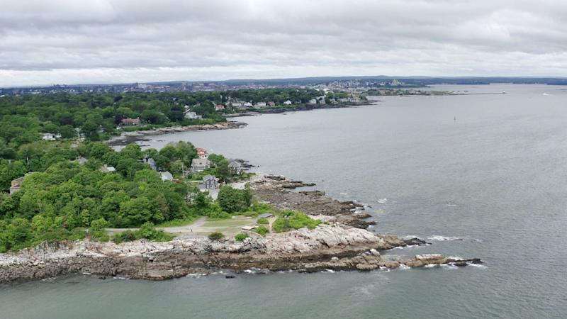 Aerial view of Cundys Harbor, Maine. (Photo: Michael Caravella/HuffPost)