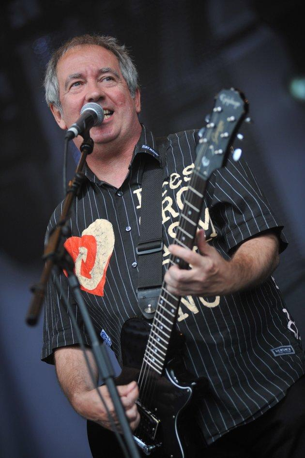 Pete Shelley performing in 2010
