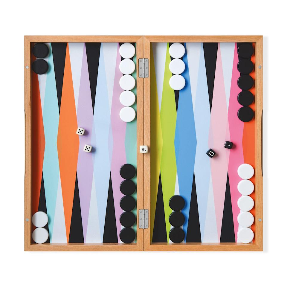 "<p><strong>MoMa</strong></p><p>moma.org</p><p><strong>$96.00</strong></p><p><a href=""https://store.moma.org/kids/toys-games/colorful-backgammon-set/128691-128691.html"" rel=""nofollow noopener"" target=""_blank"" data-ylk=""slk:Shop Now"" class=""link rapid-noclick-resp"">Shop Now</a></p>"