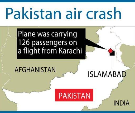 The Bhoja airline flight from Karachi came down outside Islamabad airport