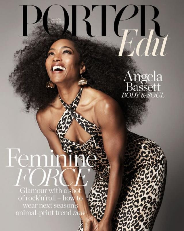 "Angela Bassett, fierce and fabulous at 59, on the cover of PorterEdit. (Photo: Paola Kudacki /PorterEdit/ <span class=""s1"">net-a-porter.com</span>)"