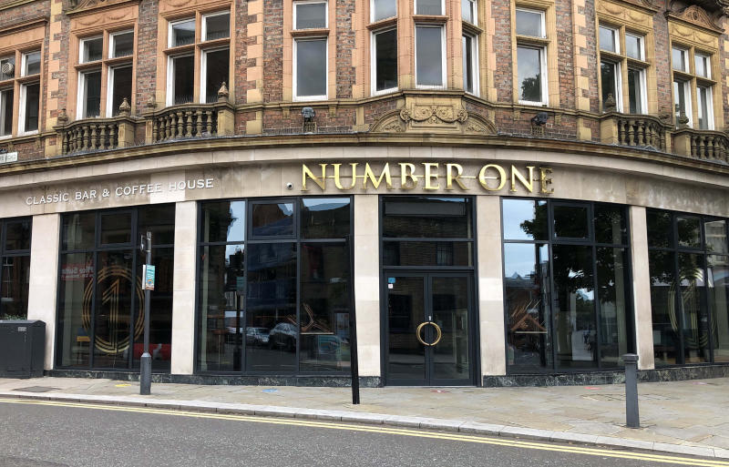 The Number One bar in Darlington which was temporarily shut on Saturday by police.