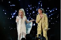 <p>Although they're not blood related, Dolly Parton is Miley Cyrus' godmother.</p><p>Dolly's close ties with the pop star stems from her long-lasting friendship with Miley's father and fellow country singer, Billy Ray Cyrus.</p>