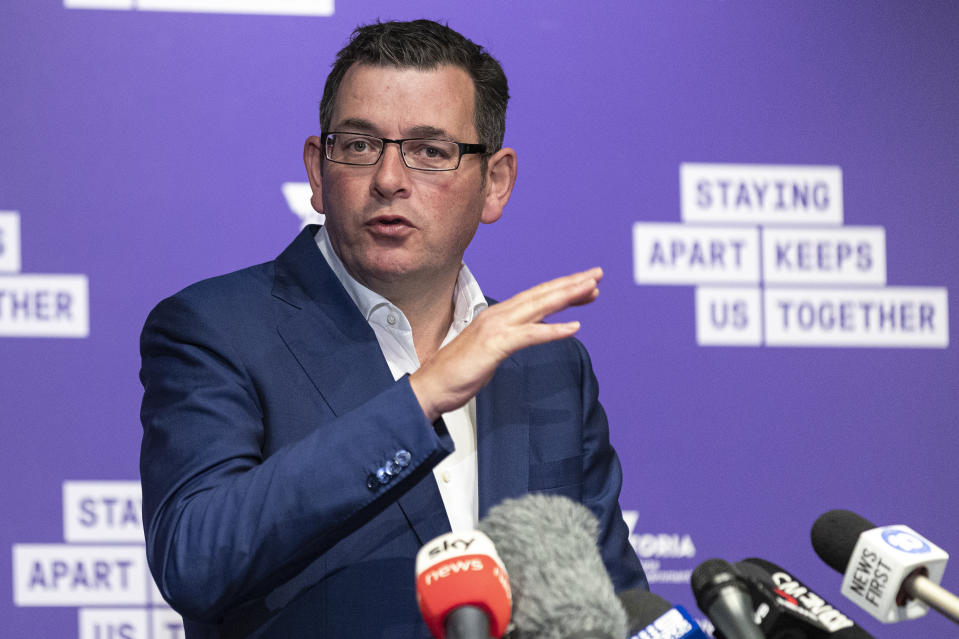 Daniel Andrews revealed 10 new hotspots during the latest outbreak. Source: AAP