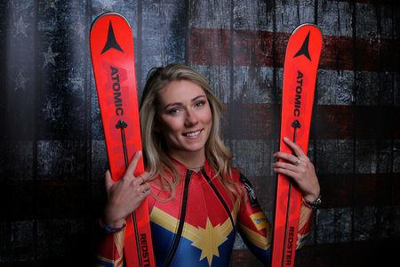 FILE PHOTO: Alpine Skier Mikaela Shiffrin poses for a portrait at the U.S. Olympic Committee Media Summit in Park City Utah, U.S. September 25, 2017. REUTERS/Mike Blake/File photo