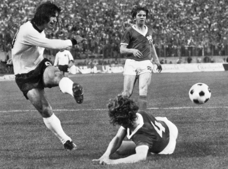 Mueller -- seen playing in the 1974 World Cup against East Germany -- retired from the international game shortly after with a then record goal tally of 68