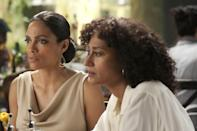 <p>Rosario Dawson can be found in the film <em>Five</em>, which is a different kind of Lifetime movie: it's comprised of five short films that explore the impact of breast cancer. The films are directed by Jennifer Aniston, Alicia Keys, Demi Moore, Patty Jenkins, and Penelope Spheeris. Dawson plays Lili in the film directed by Keys. </p>