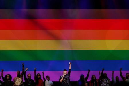 FILE PHOTO: Sara Ramirez performs during the WorldPride 2019 Opening Ceremony in New York