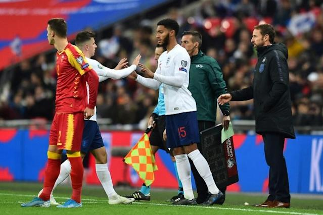 Joe Gomez was booed when he came on in England's 7-0 thrashing of Montenegro (AFP Photo/Glyn KIRK )