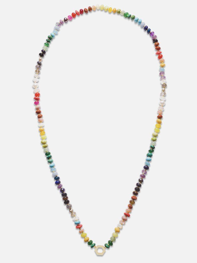 "<p><strong>Harwell Godfrey </strong></p><p>harwellgodfrey.com</p><p><strong>$1790.00</strong></p><p><a href=""https://www.harwellgodfrey.com/jewelry/rainbow-bead-foundation-necklace"" rel=""nofollow noopener"" target=""_blank"" data-ylk=""slk:Shop Now"" class=""link rapid-noclick-resp"">Shop Now</a></p><p>For those with a sweet tooth, who want to eat their candy—and wear it, too. </p>"