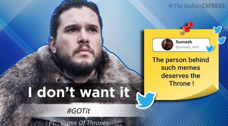 game of thrones, got memes, jon snow, jon snow i dont want it meme, jon snow mumbai police, mumbai police memes, indian express,